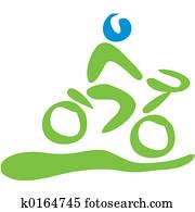 Biking symbol