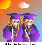 graduation couple