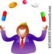juggling pills