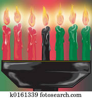 Kwanza candles close up