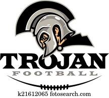 trojan, football, design