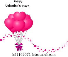 Clipart Of Valentine S Day Illustration With Rose Angel Letter And