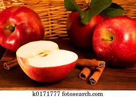 apples,, zimt