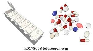 Pill Box & Pills