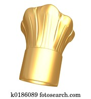 Gilded Chef Hat