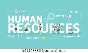 Human resources concept.