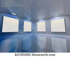 Virtual gallery - blue