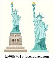 Statue of liberty of america