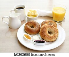 Breakfast Series - Bagels, coffee and juice