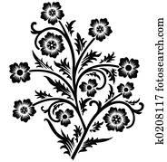 Scroll, cartouche, decor, vector illustration
