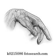 cellophane hand