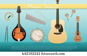 Realistic vector musical instrument isolated on white background