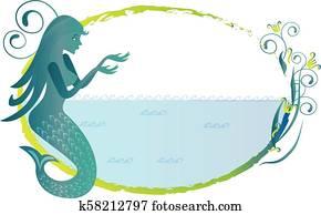Mermaid silhouette logo