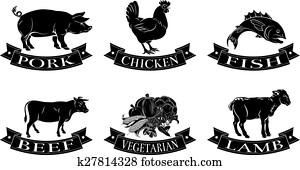 Food menu labels