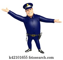 Police with Funny pose