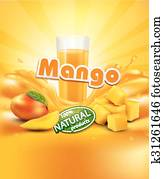 vector background with mango