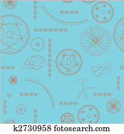 Bicycle seamless background