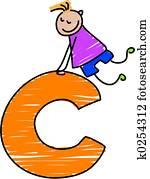 letter C boy