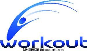 Workout swoosh logo