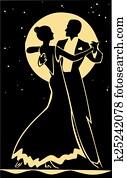 Formal ballroom dance