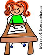 writing kid