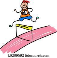 athletic kid