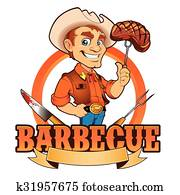 Cowboy Barbecue Chef