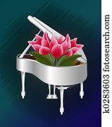 Tulips in Piano