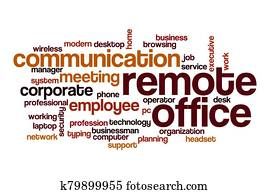 Remote office word cloud concept