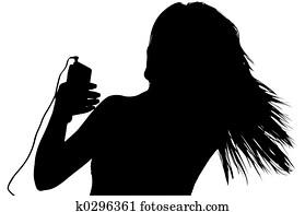 Stock Illustration Fussballerin Abbildung Silhouette