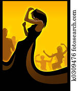 Black diva dancing