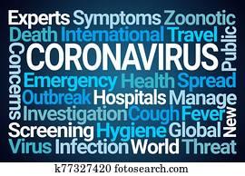 coronavirus, wort, wolke