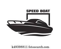 Speed boat logo.