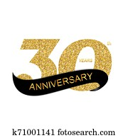 Template 30th Anniversary Illustration