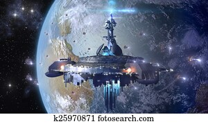 UFO mothership near Earth