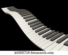 Wavy piano keys