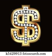 bling, dollarzeichen