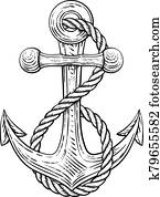 Anchor from Boat or Ship Tattoo Drawing