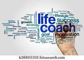 Life coach word cloud