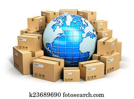 Worldwide shipping concept