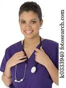 Beautiful Hispanic Nurse