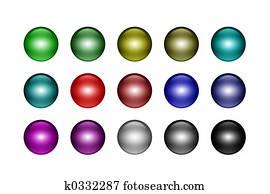 Metal ball buttons