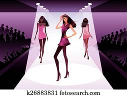 Fashion models on review