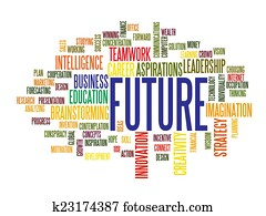 Business future word cloud