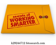 Secrets of Working Smarter Yellow Envelope How to Advice Information