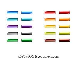 Web Buttons - 3d - Bright