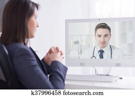 Presenting his professional experience to a medical director