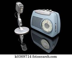 Retro radio and mike