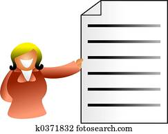 document woman
