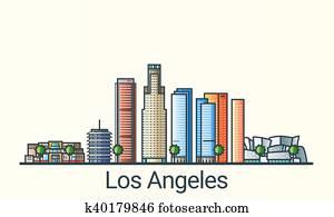 Flat line Los Angeles banner